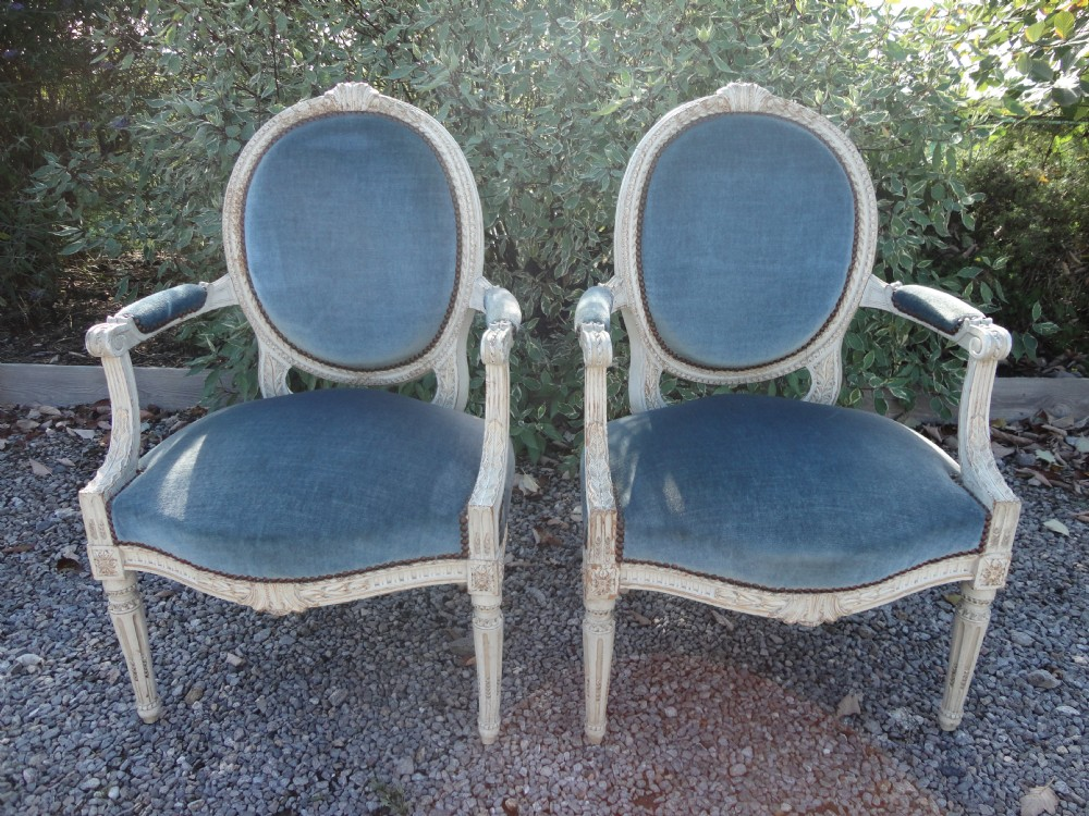 Pair Of French Louis Xv1 Style Armchairs | 238922 ...