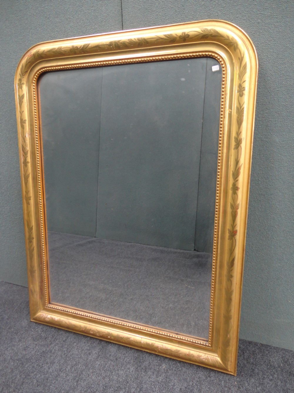 French gilt louis philippe style overmantle mirror for Miroir louis philippe