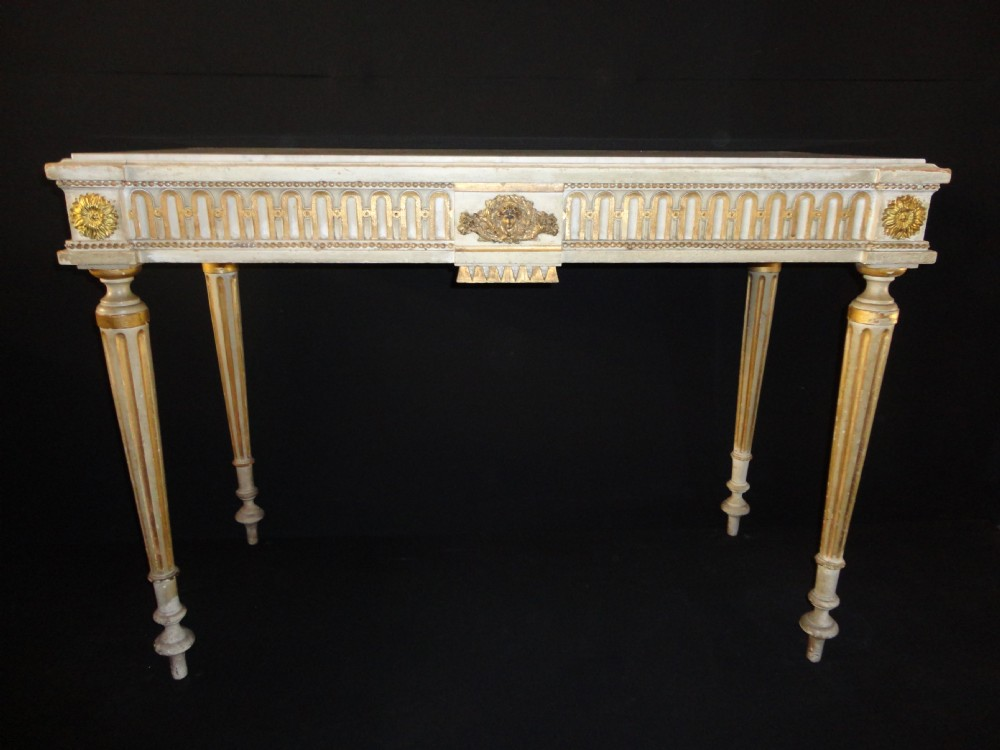 French Louis Xvi Style Painted And Gilt Console Table. | 327505 ...