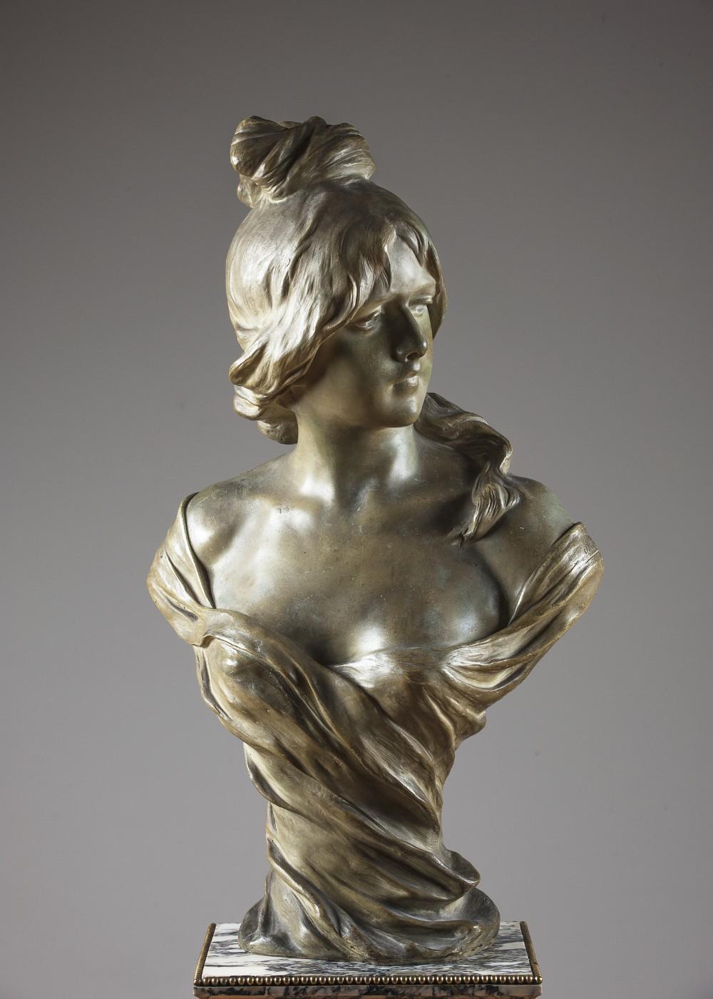 19th century terracotta goldscheider sculpture