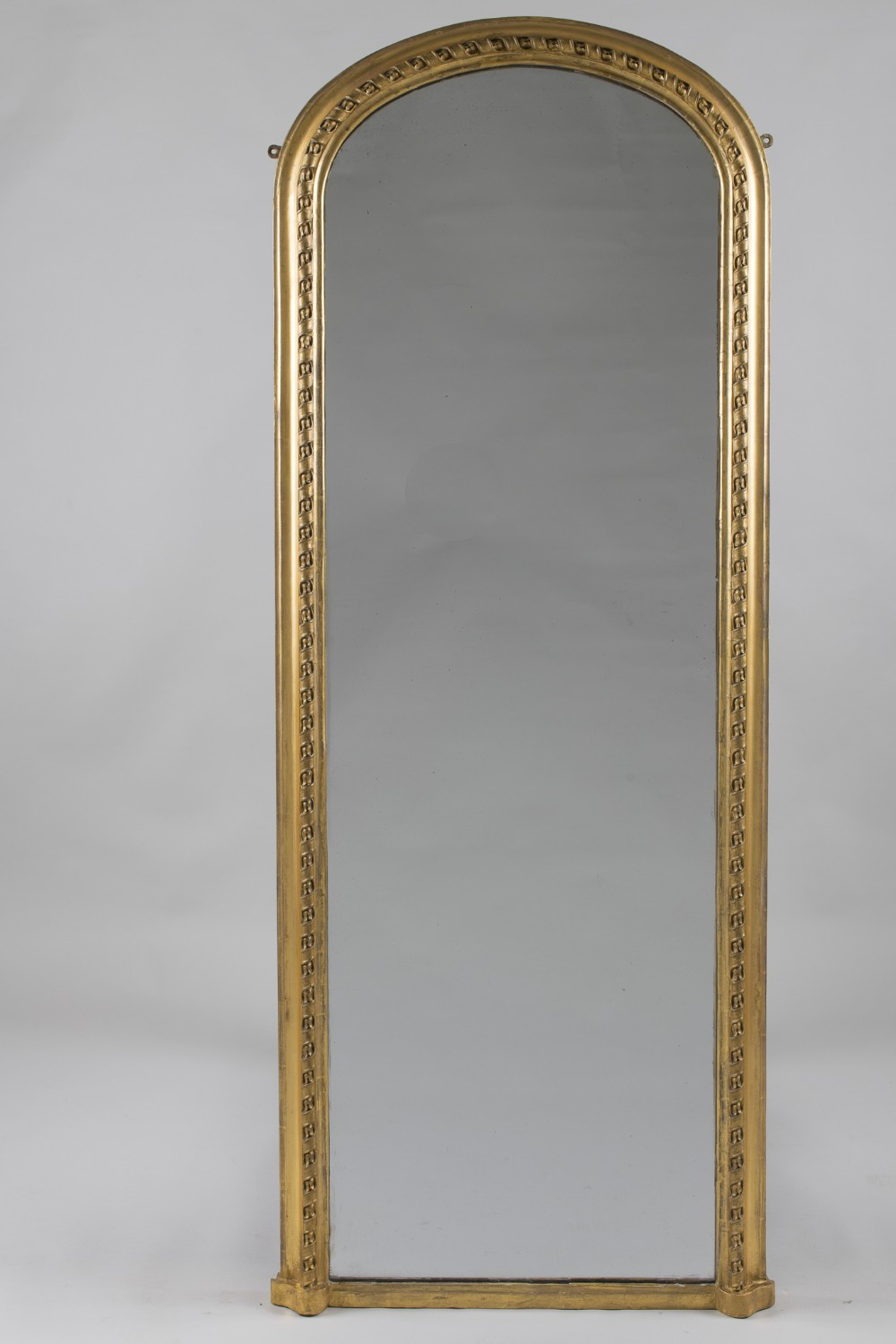 large 19th century french gilt arch top pier overmantle mirror