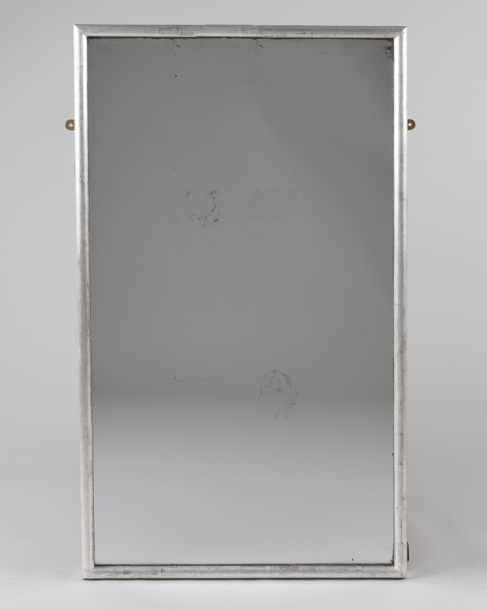 large french silvered overmantle mirror