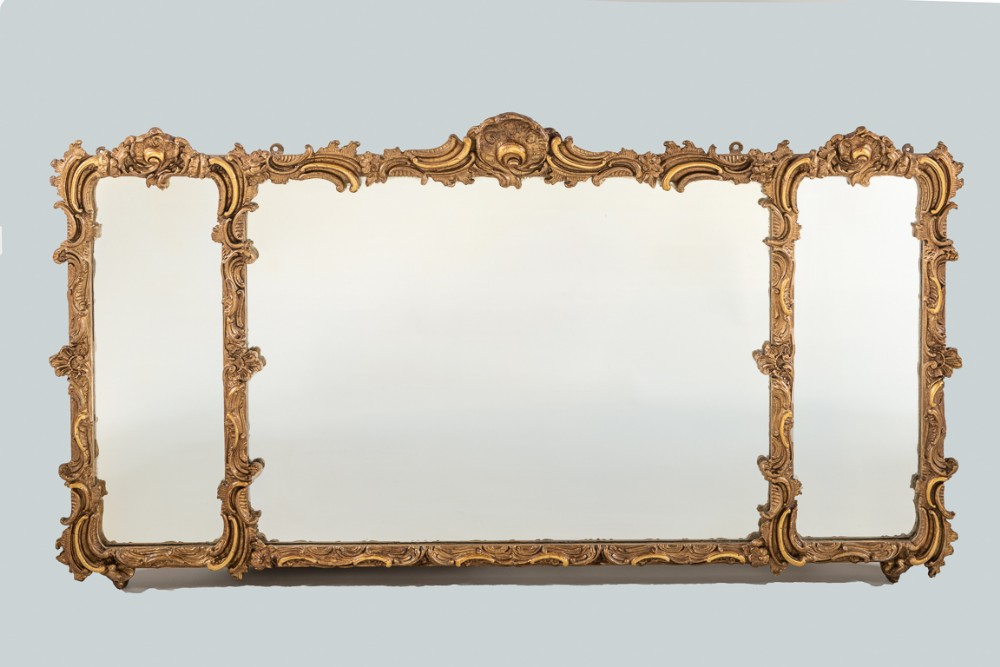 english victorian gilt overmantle mirror