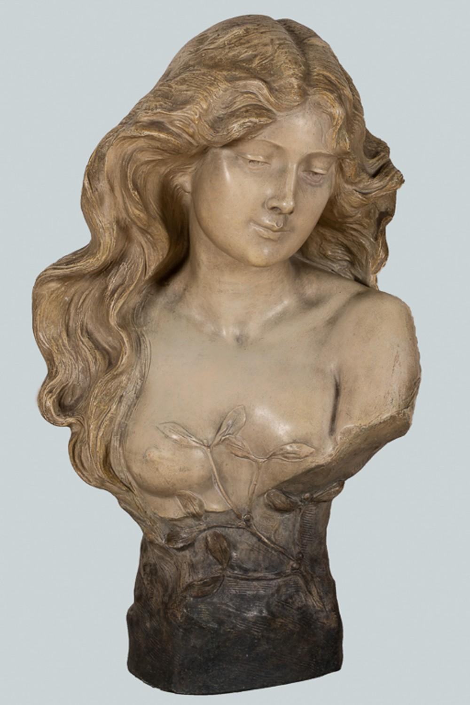 austrian goldscheider large terracotta sculpture