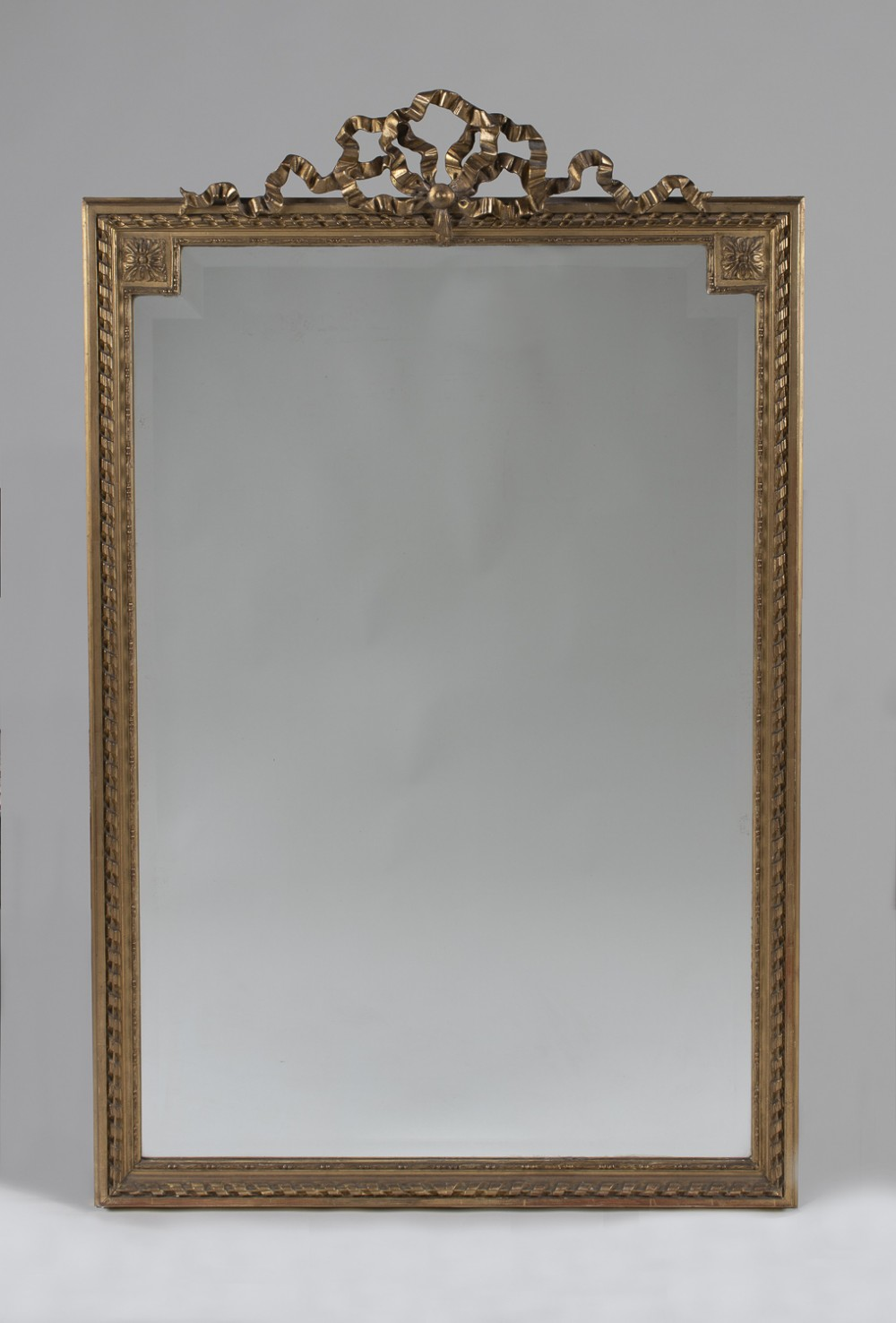 19th century large french gilt overmantle mirror