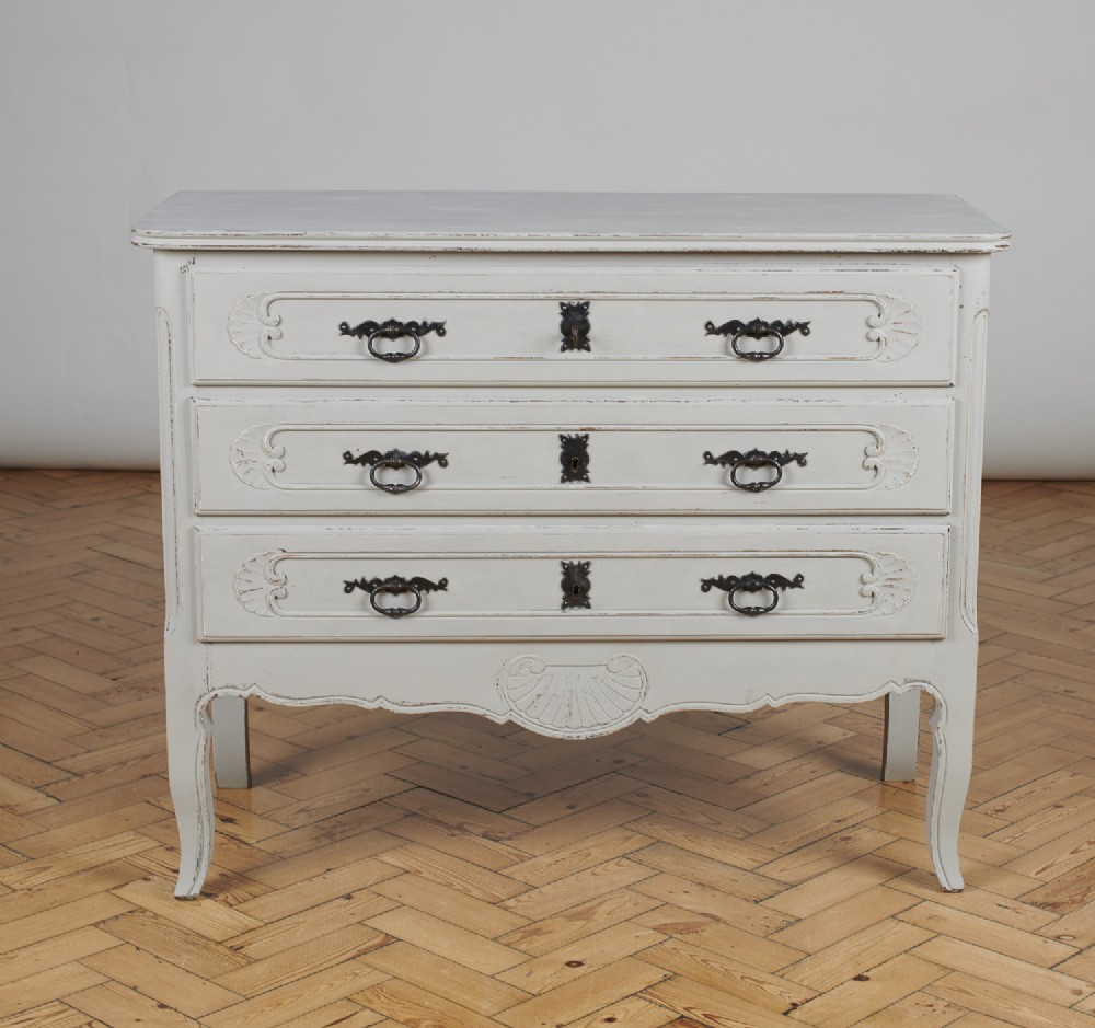 large french painted chest of drawers