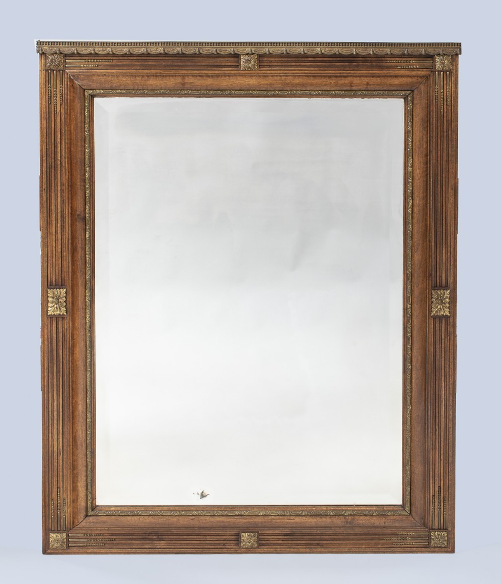 french walnut and ormolu overmantle mirror