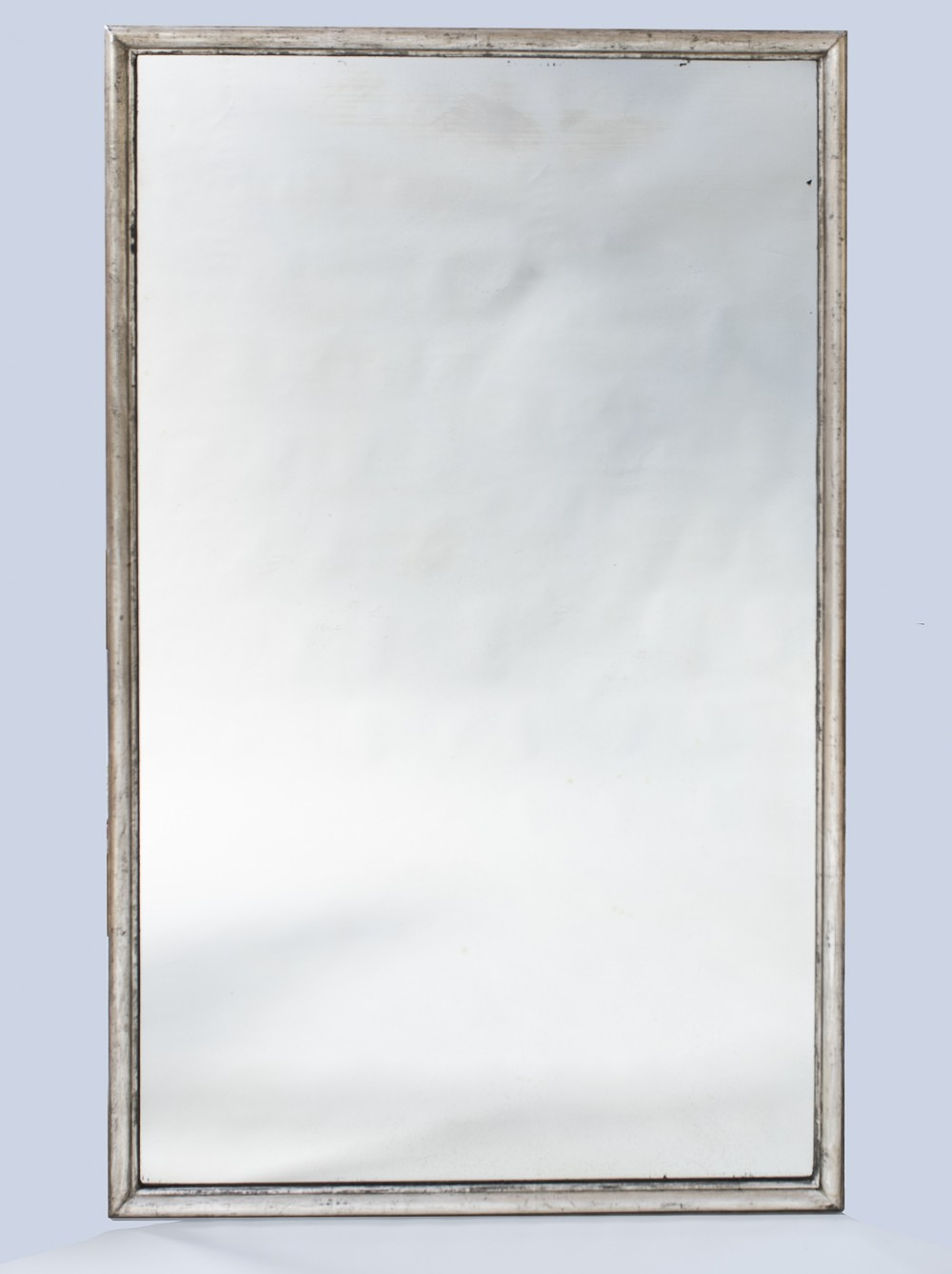 19th century french silvered large overmantle mirror