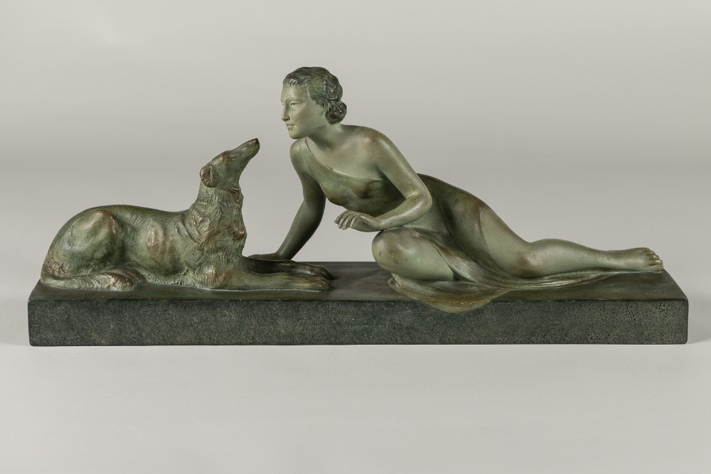 french art deco terracotta sculpture by ugo cipriani