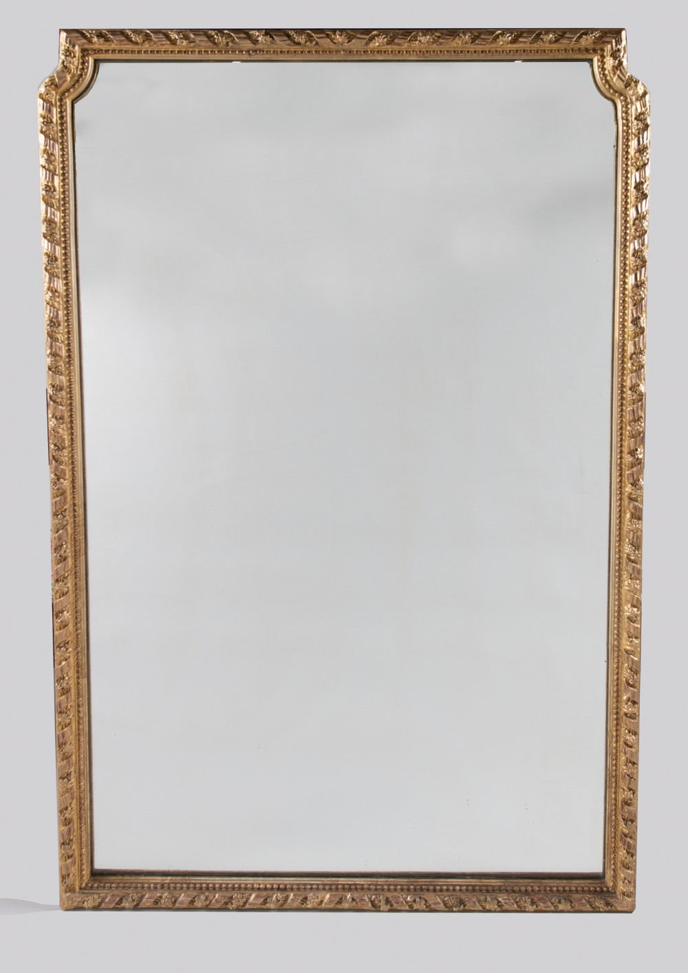 a 19th century large french gilt overmantle mirror