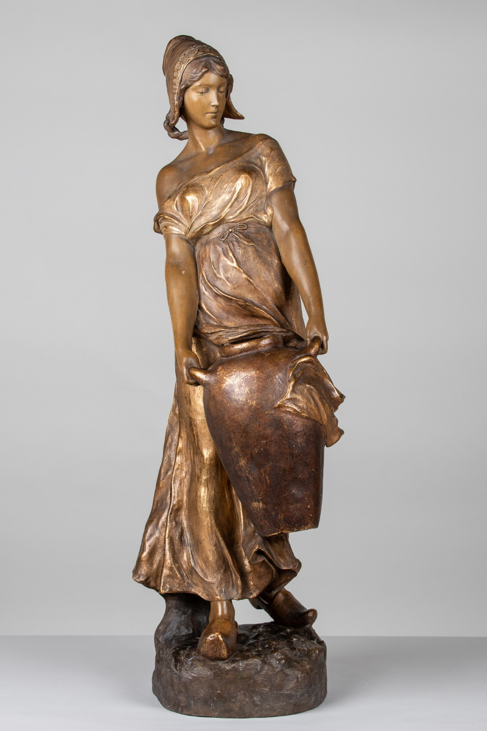 a stunning 19th century large terracotta sculpture by frederic goldscheider