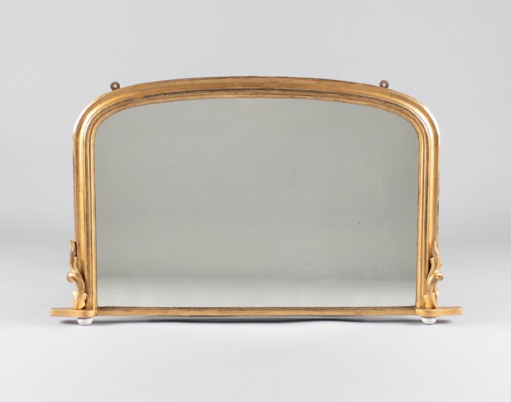 19th century english victorian gilt overmantle mirror