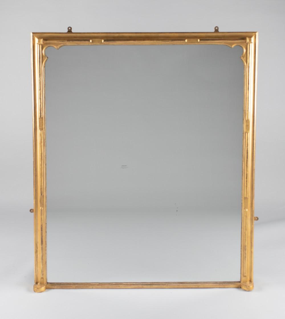 19th century large victorian english gilt overmantle mirror