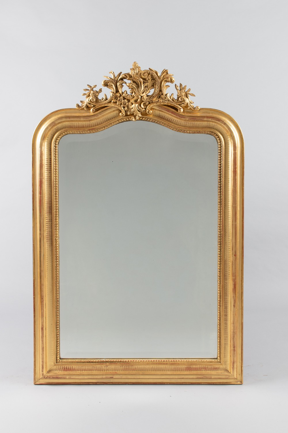 large 19th century french gilt overmantle mirror