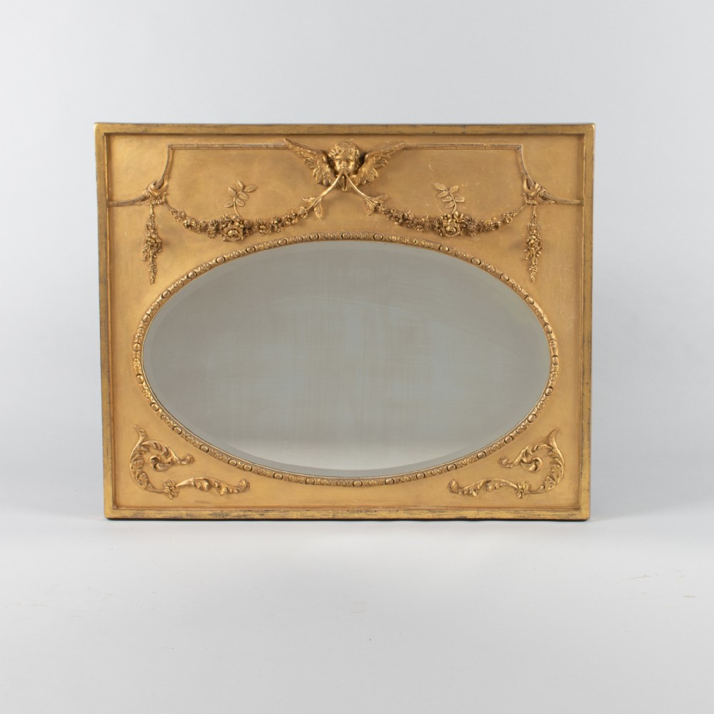 19th century victorian english gilt overmantle mirror