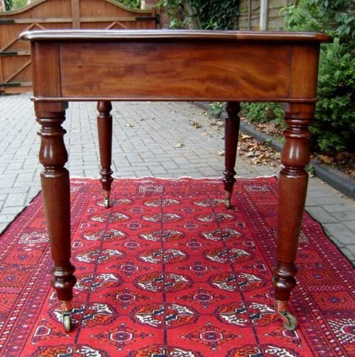 antique table mahogany writing table or antique desk - photo angle #4