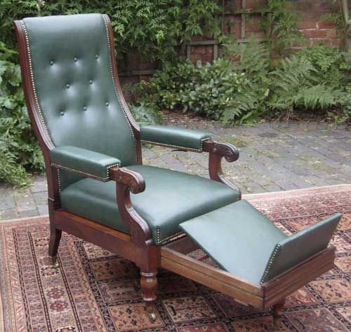 antique reclining library chair in the manner of robert daws - Antique Reclining Library Chair In The Manner Of Robert Daws