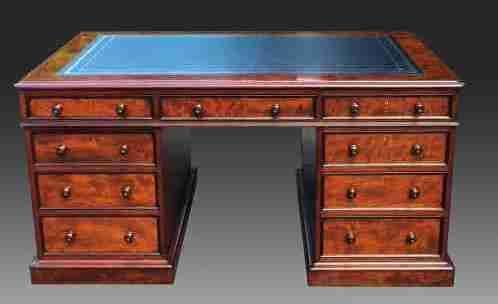 antique scottish mahogany partners desk