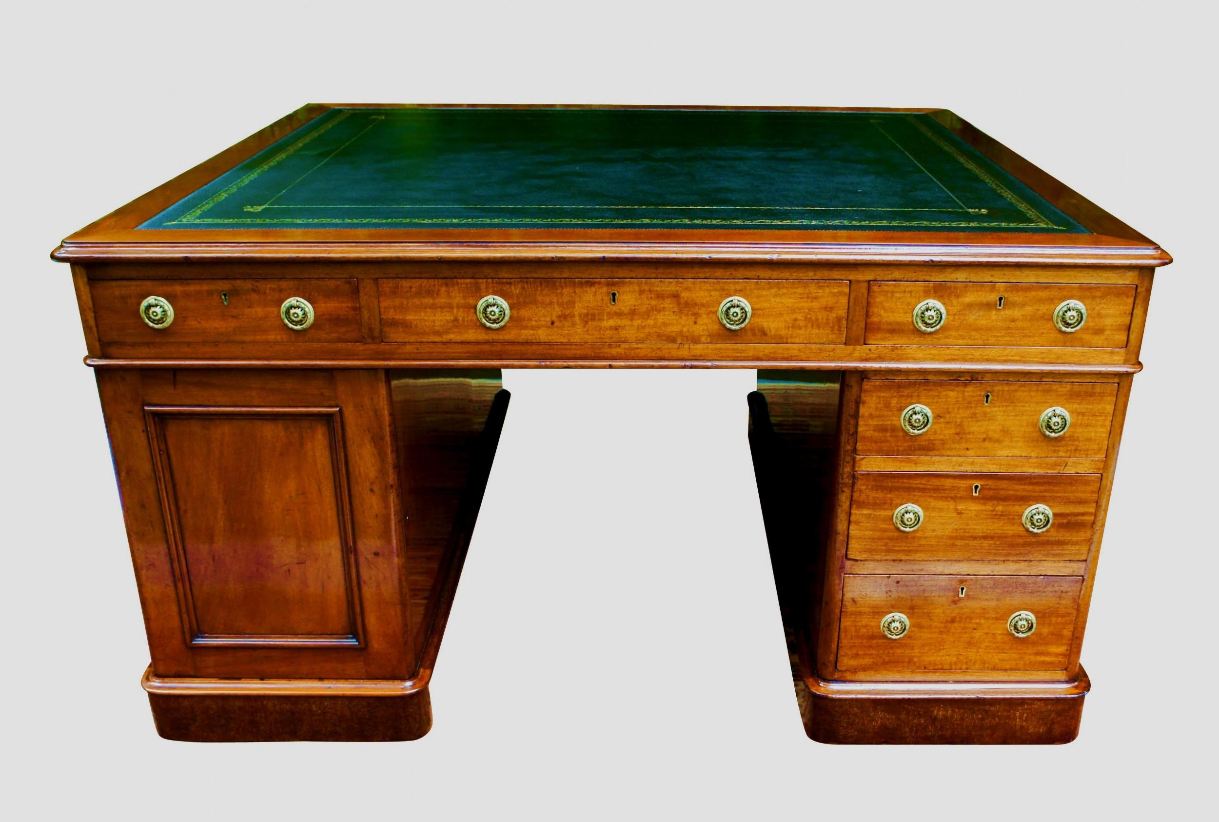 antique english mahogany partners desk