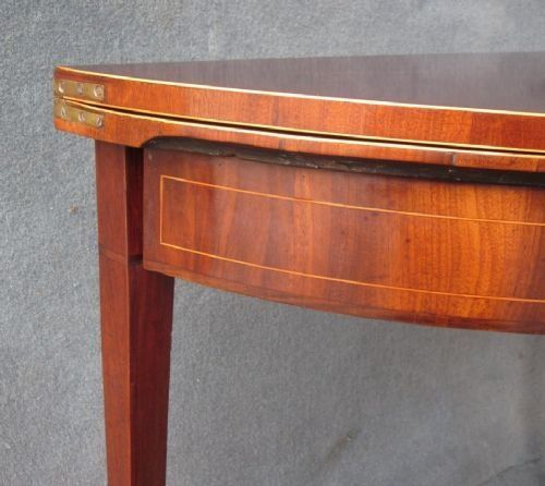 a mahogany demilune card table - photo angle #4