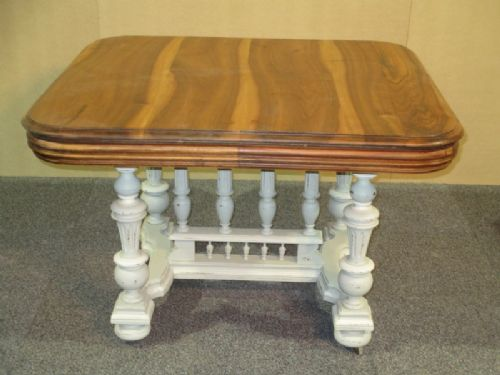a painted french henri ii style dining table with walnut. Black Bedroom Furniture Sets. Home Design Ideas