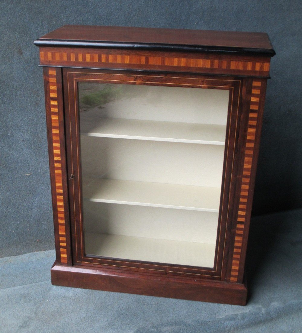 victorian rosewood pier cabinet 1 of a near pair listed seperately