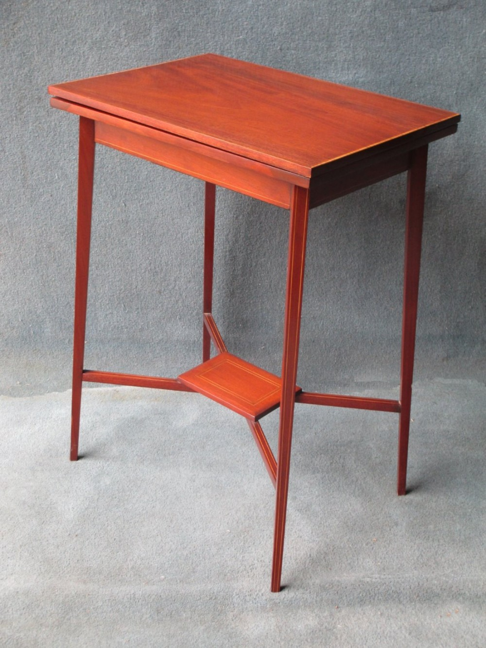 a small foldover card table
