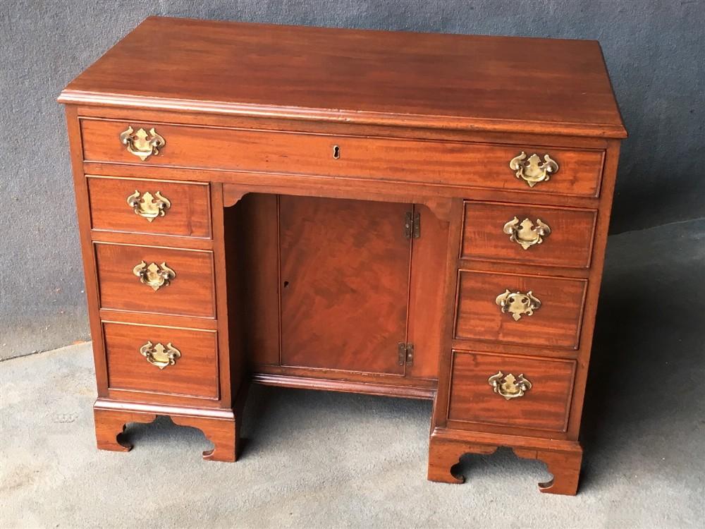 a victorian mahogany kneehole desk