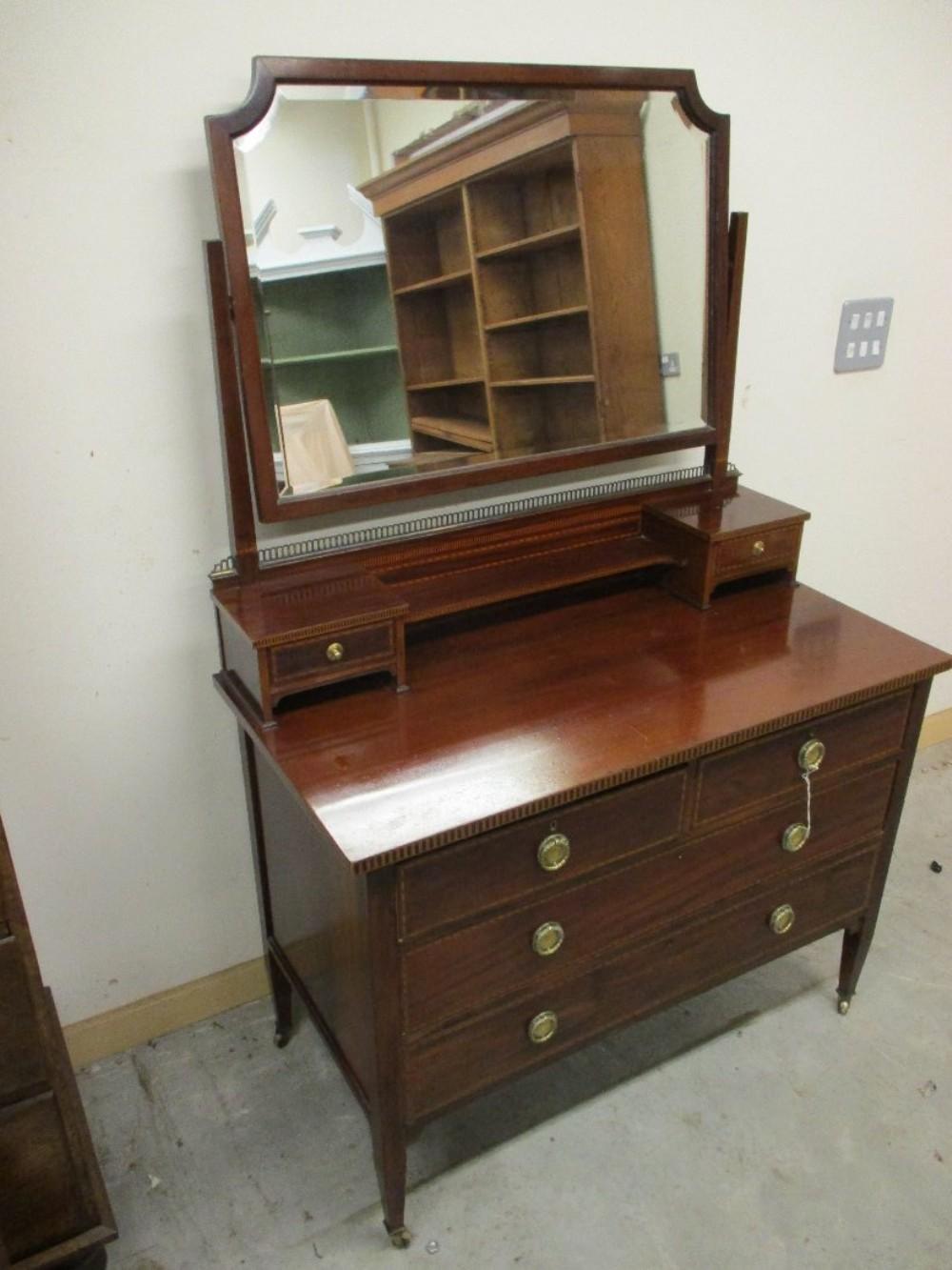 inlaid mahogany dressing table