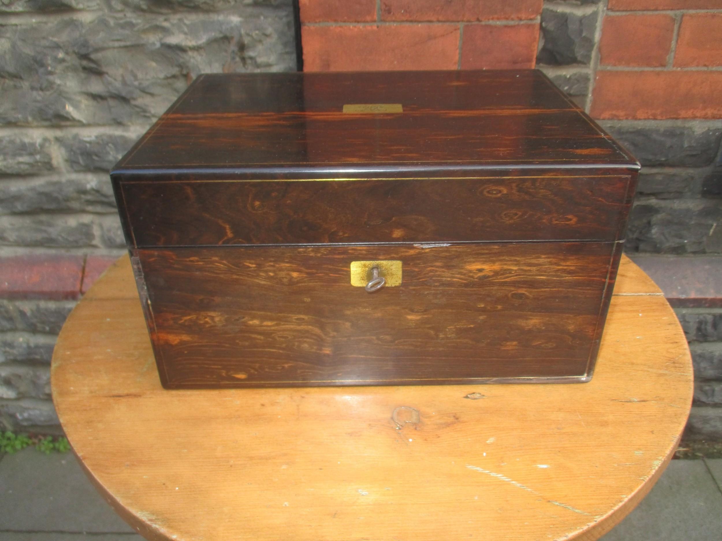 coromandel wood dressing box