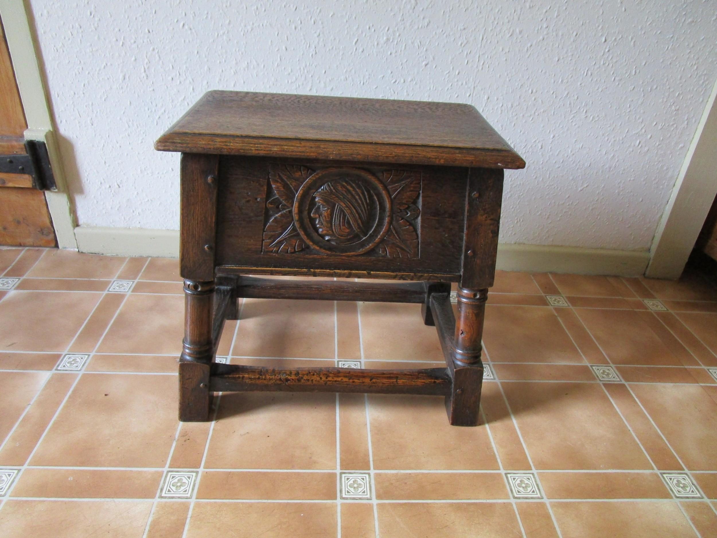 shoolbred oak stool