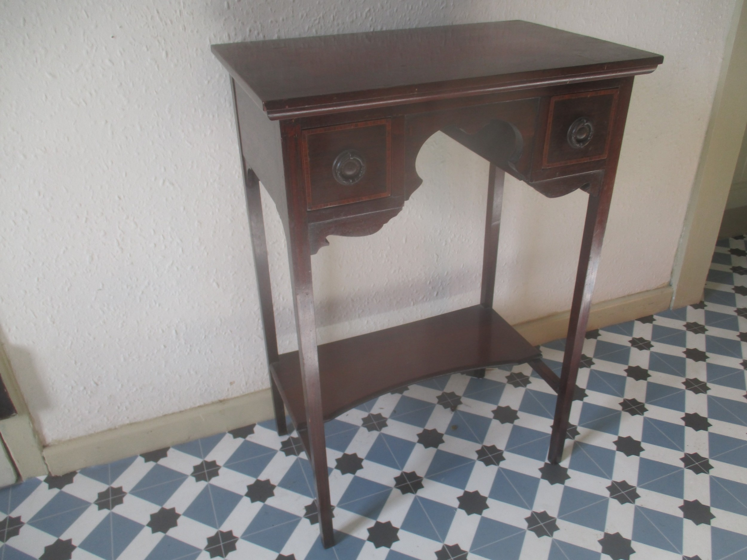mahogany low boy or side table