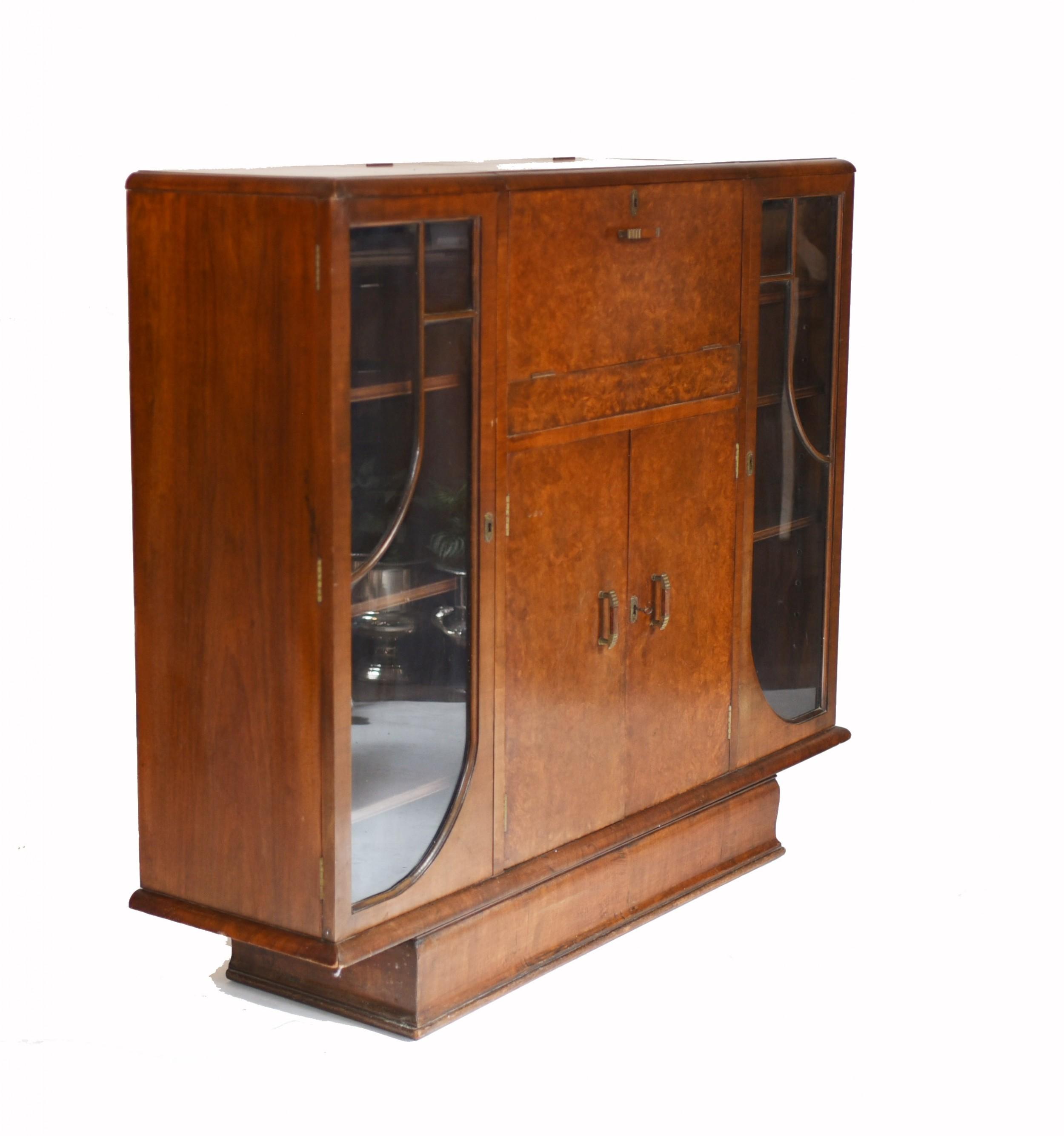 vintage art deco drinks cabinet 1930s furniture