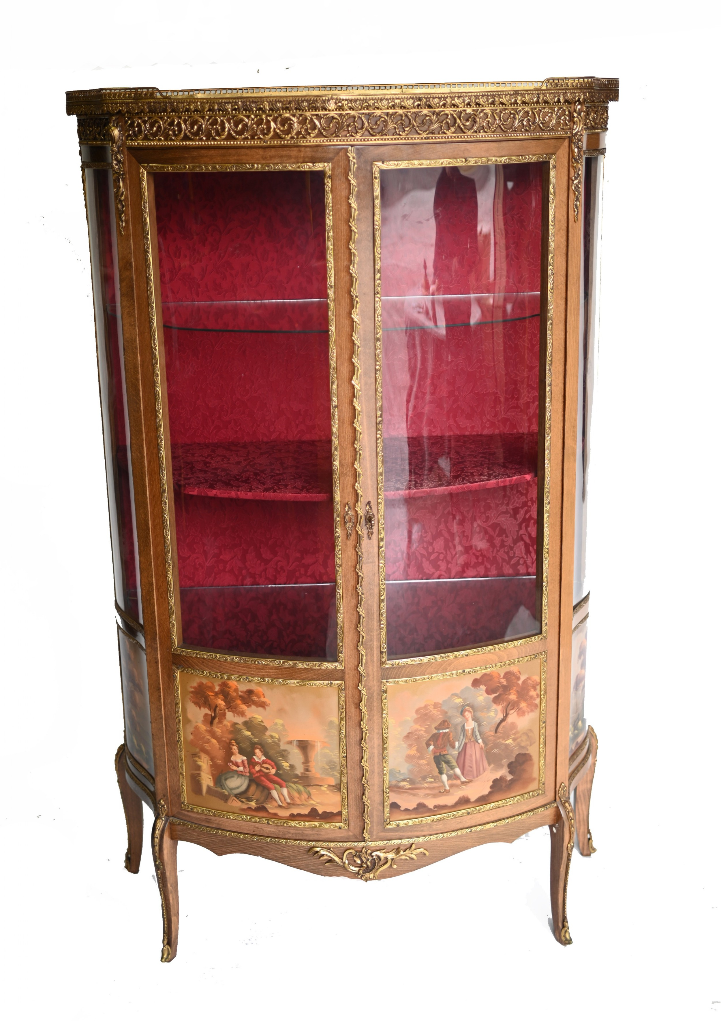 french display cabinet vernis martin painted bijouterie 1900