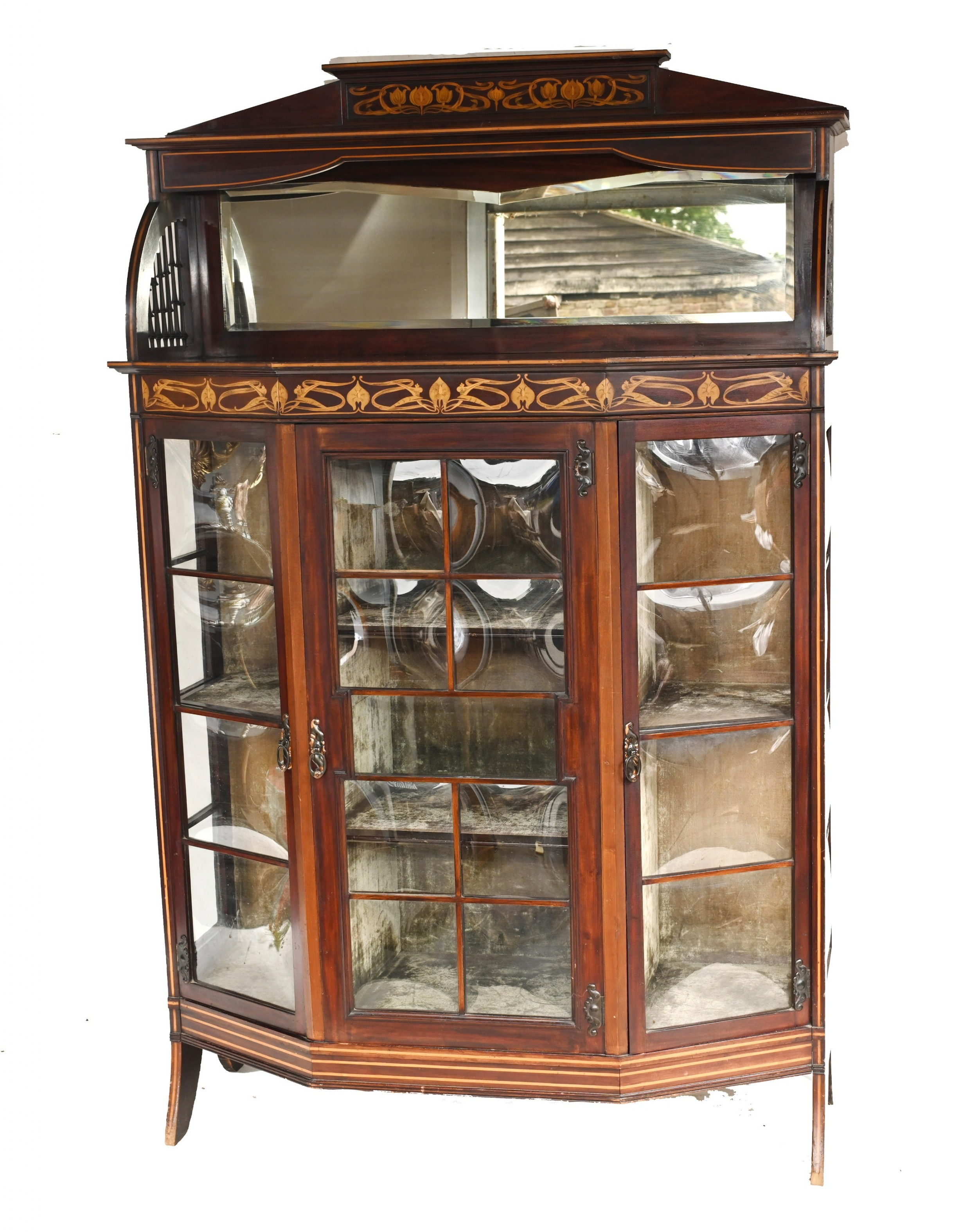 art nouveau display cabinet english 1900 golding and son