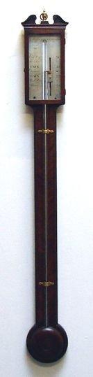 george iii mahogany stick barometer