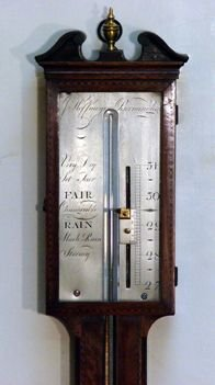 george iii mahogany stick barometer - photo angle #2