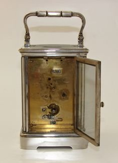 silver plated drocourt carriage clock timepiece - photo angle #4