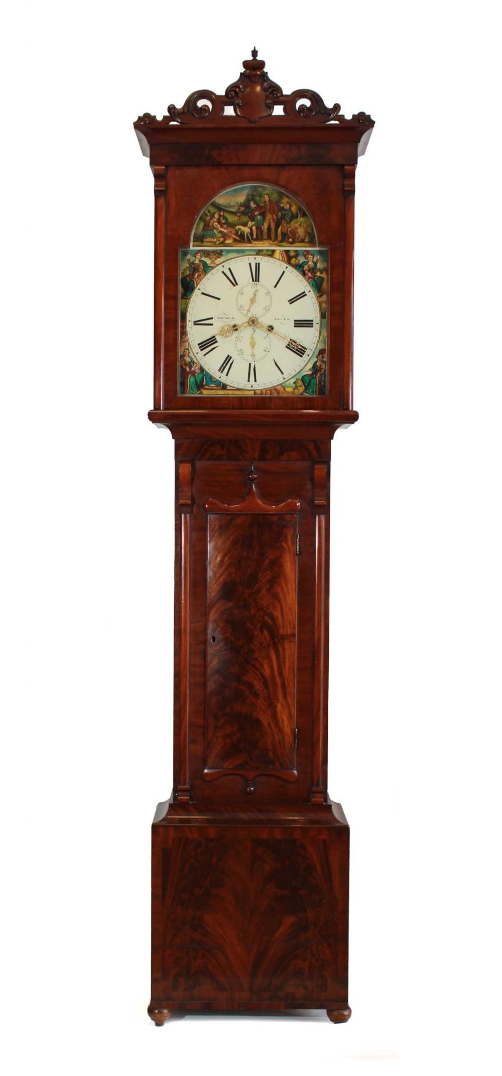 1860s scottish 8day longcase clock robert muir of dalry