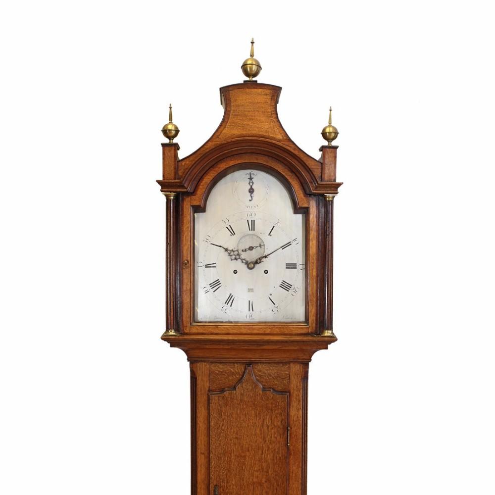8day oak longcase clock by yates london