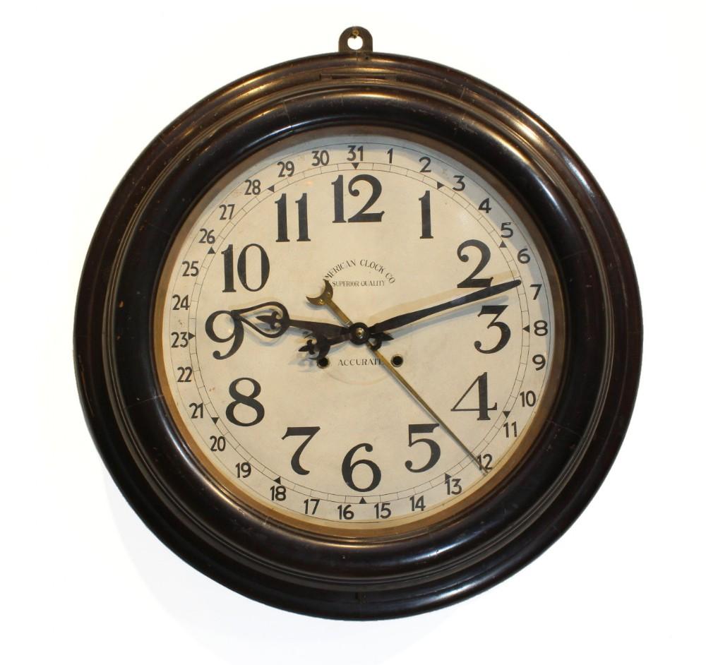 very large striking wall clock american