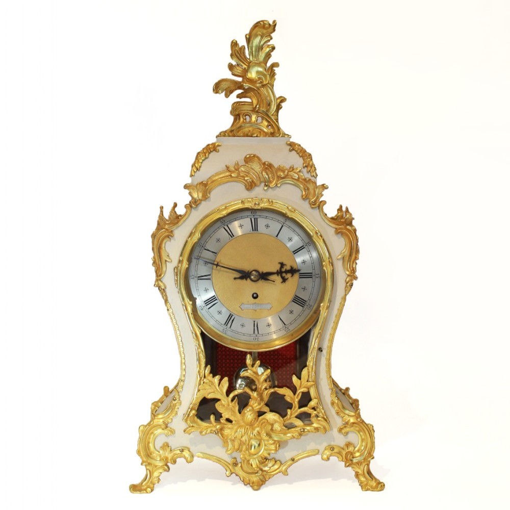large fusee timepiece mantel clock wh