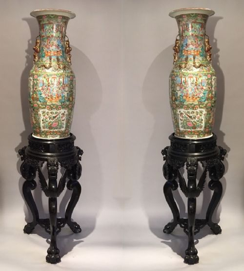 pair of chinese cantonese vases