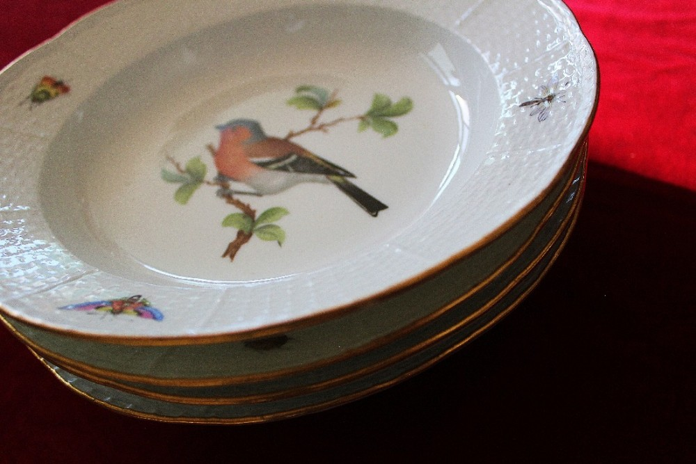 messen porcelain desert dishes and plates