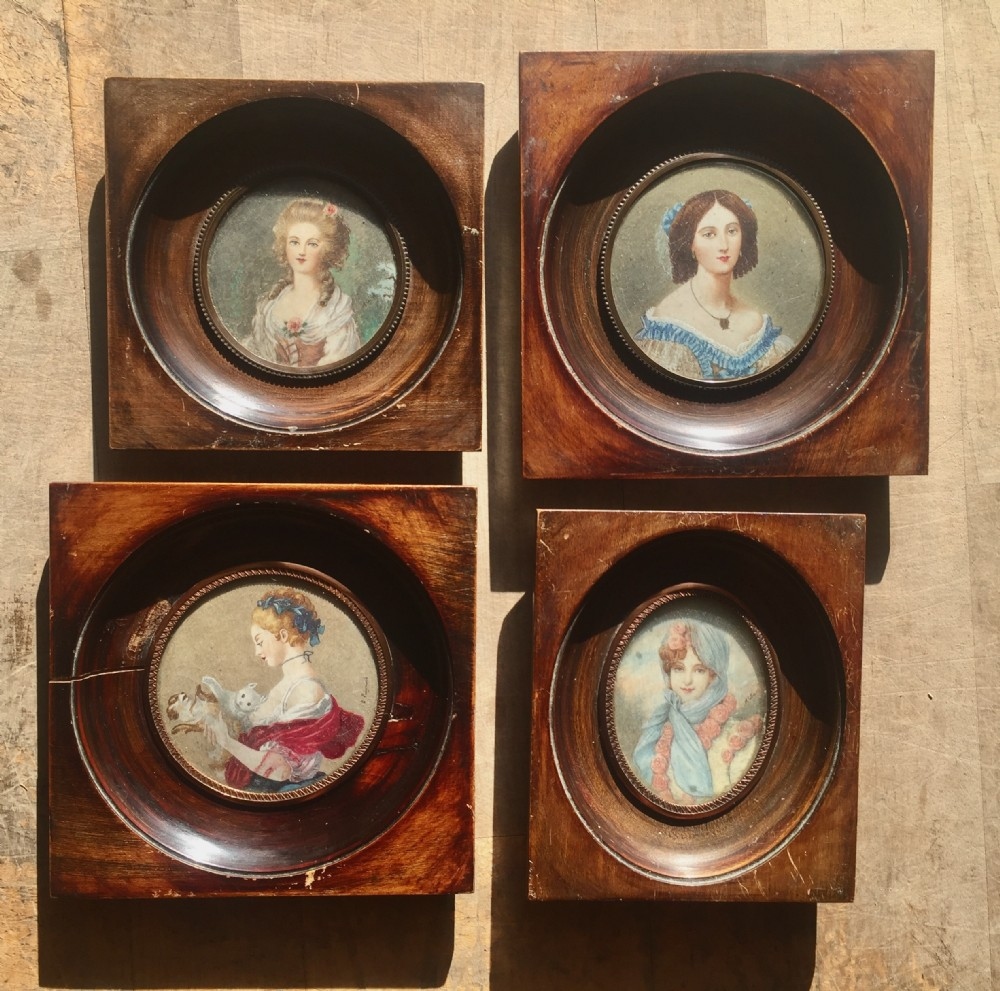 set of four miniatures