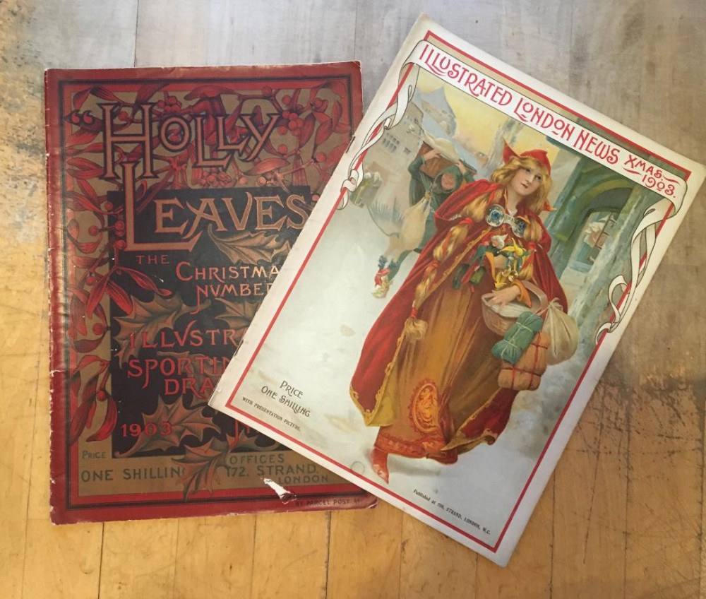 antique christmas magazines