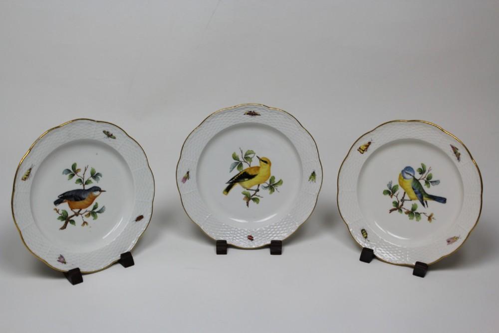 3 meissen plates 1850