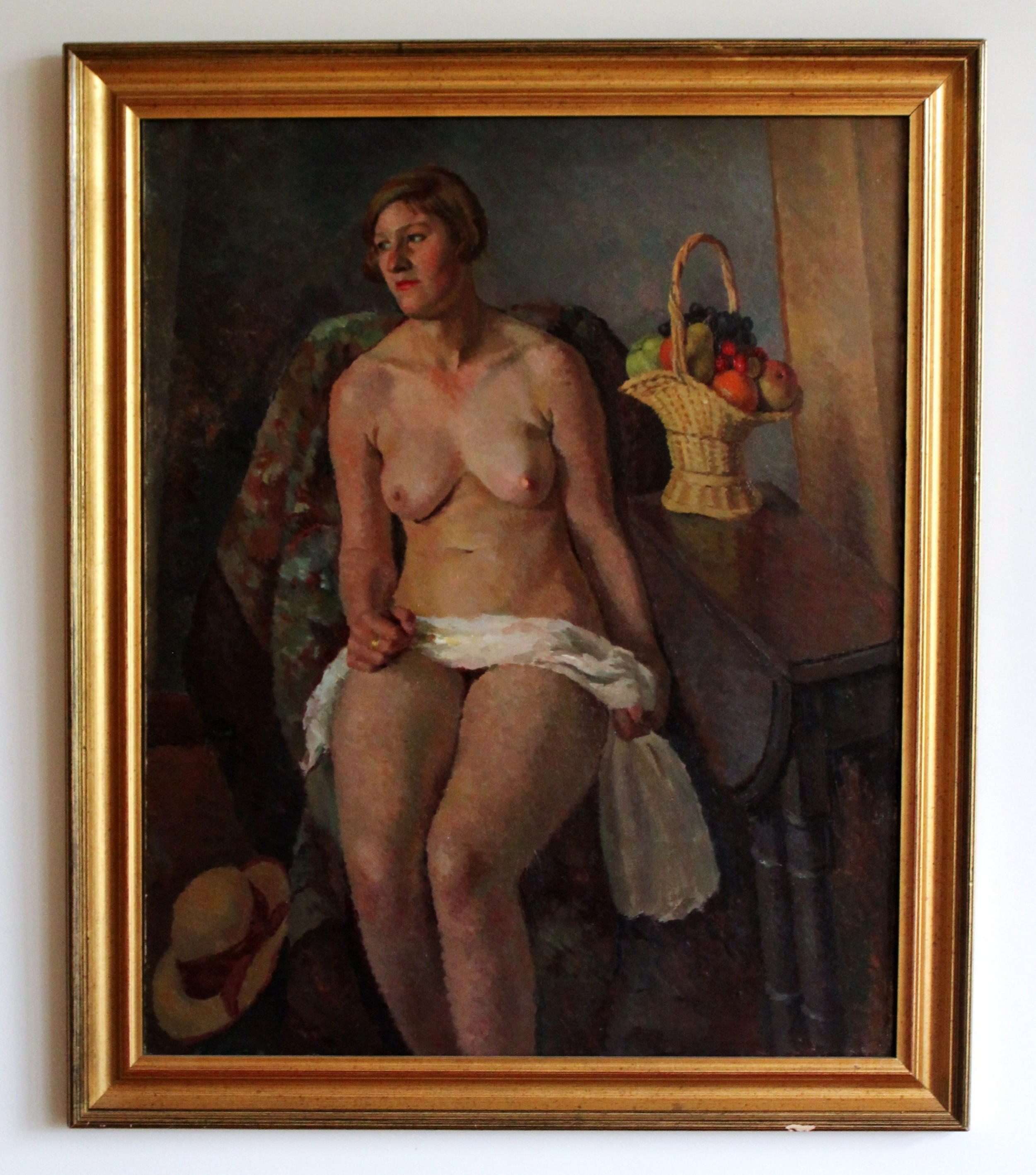 painting of a nude lady