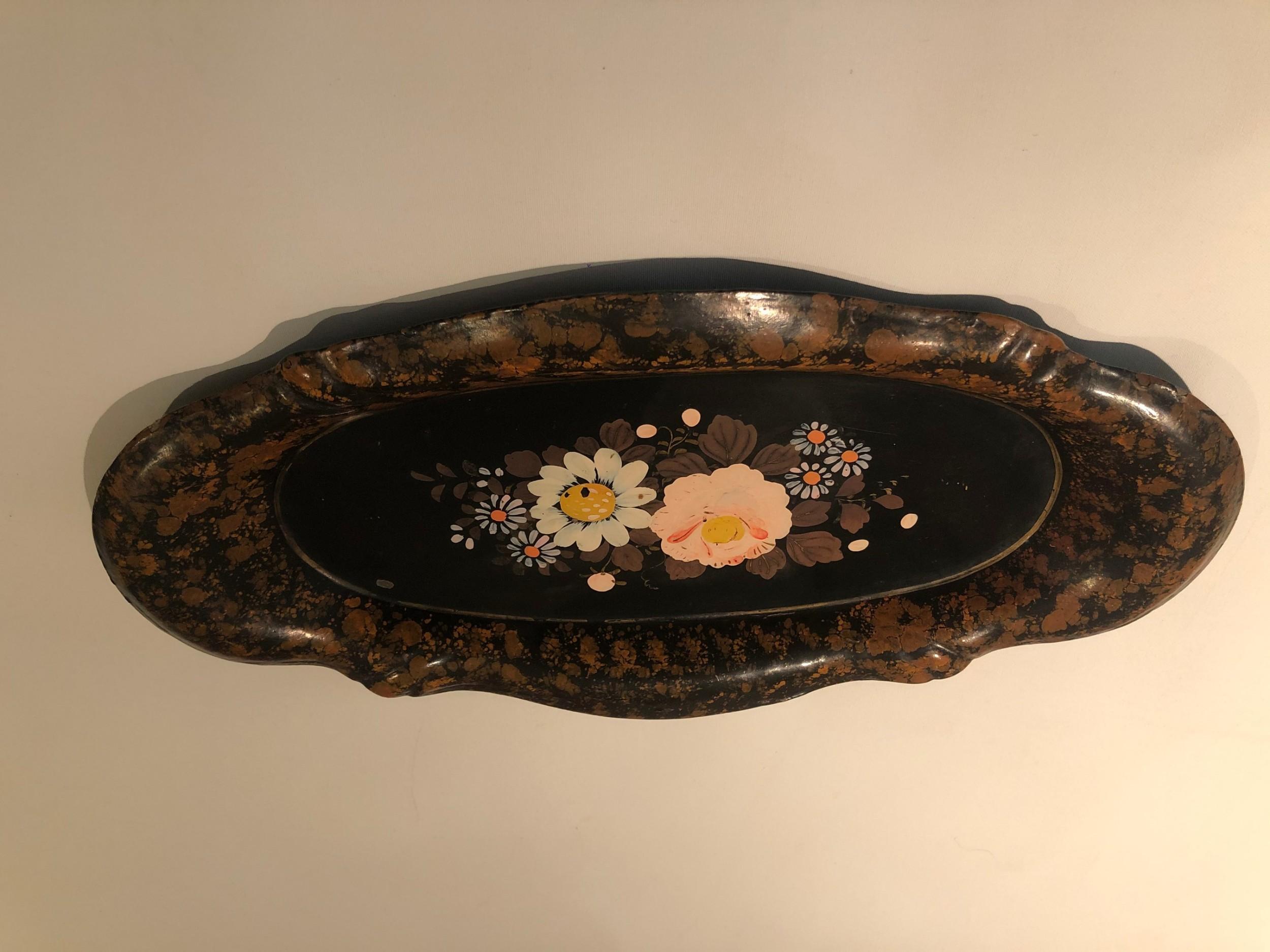 victorian paper mache tray