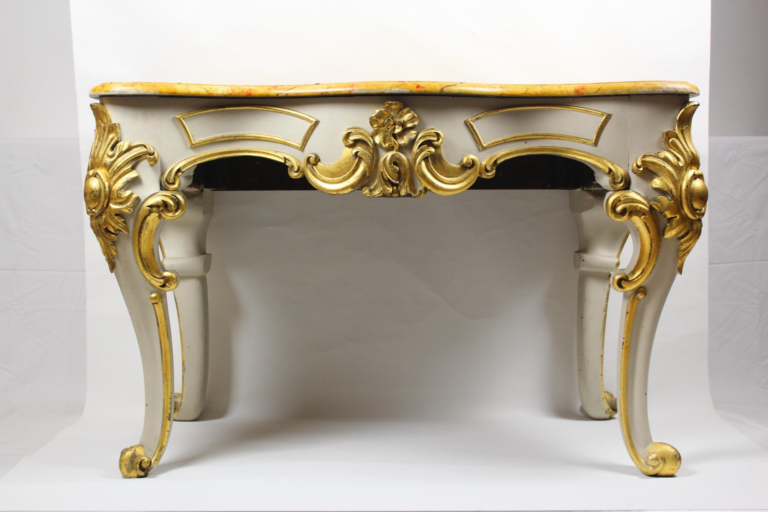 sienna marble table